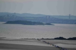 At the rock - Inchcolm and the Forth Bridges in the background