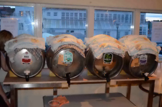 Williams Bros beer kept cool using iced nappies!